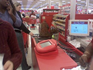 Picture of Target checkout line from Flickr