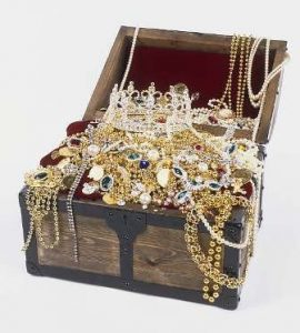 Photo of overflowing treasure chest