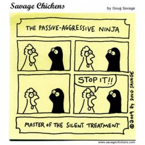 Comic of passive-aggressive ninja