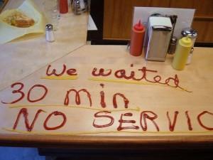 Photo of passive aggressive restaurant patron