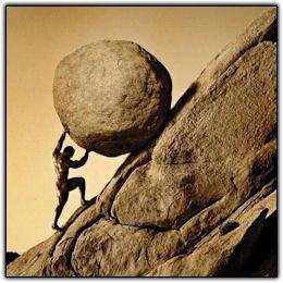 Photo of Sisyphus on the hill