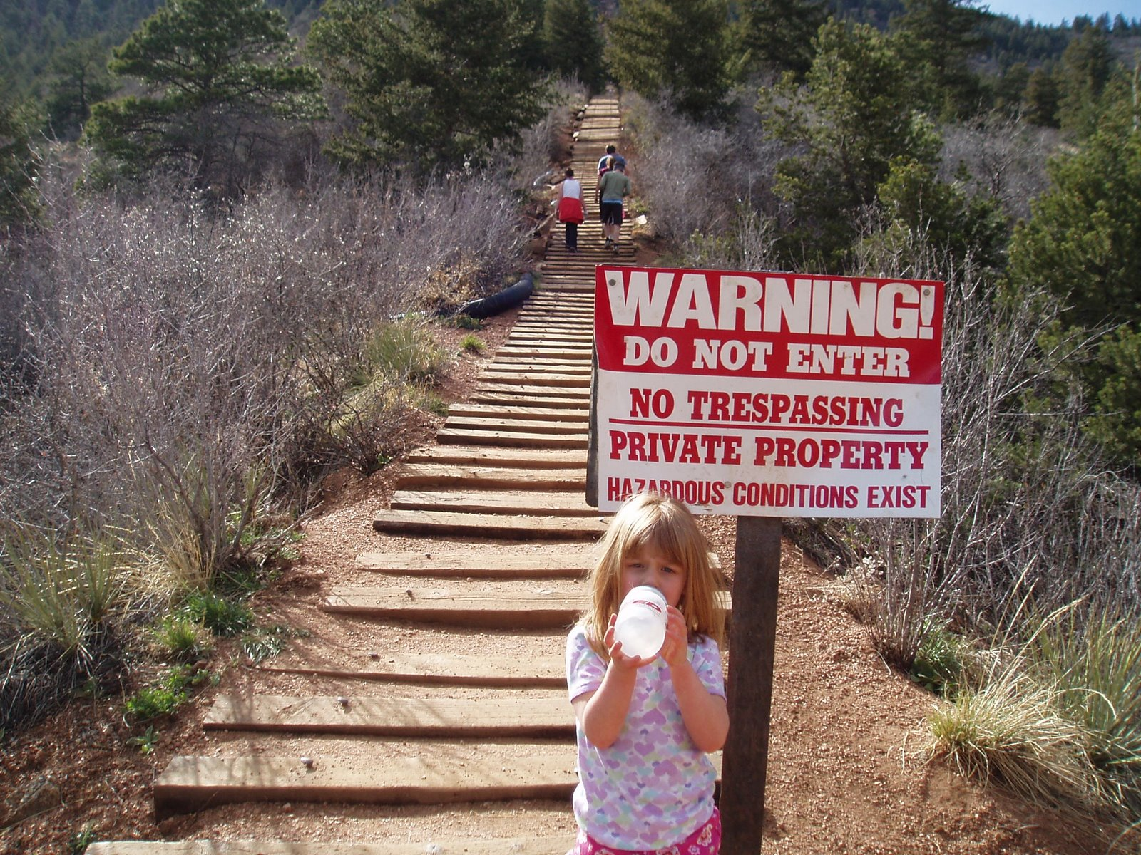 Photo of people trespassing