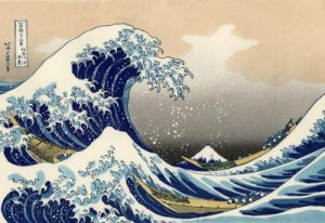 photo of hokusai's Great Wave