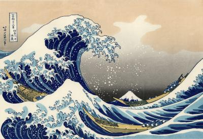 photo of Hokusai wave