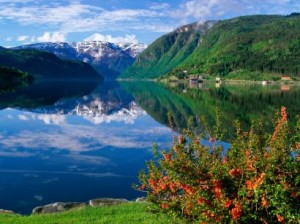 photo of Norwegian fjord