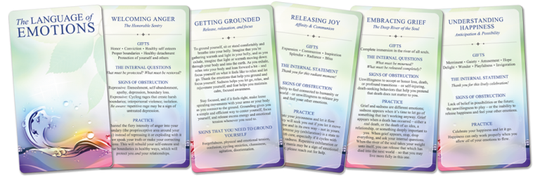 Photo of five Emotion Cards