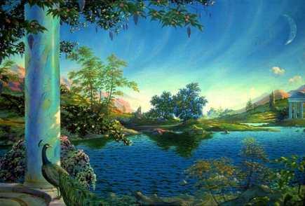 painting of utopian scene