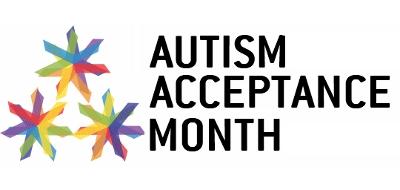 Logo for Autism Acceptance Month