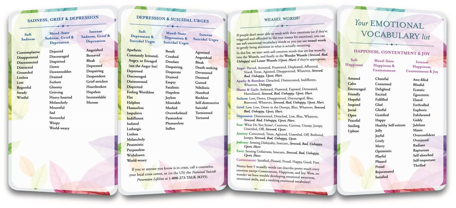 The Emotional Vocabulary List